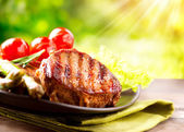 Grilled Beef Steak Meat — Stock Photo