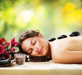 Spa Salon. Stone Massage. Dayspa — Fotografia Stock