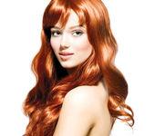 Taze temiz ten güzel genç kadın portresi — Stok fotoğraf