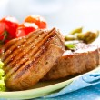 Grilled Beef Steak Meat over White — Stock Photo #29983897