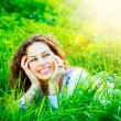Stock Photo: Young Woman Outdoors. Enjoy Nature