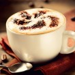 Cappuccino. Cup of Cappuccino Coffee  — Stock Photo