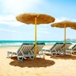 Vacation Concept. Spain. Beach Costa del Sol. Mediterranean Sea — Stock Photo