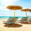 Vacation Concept. Spain. Beach Costa del Sol. Mediterranean Sea — Stock Photo