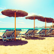 Vacation Concept. Spain. Beach Costa del Sol. Mediterranean Sea — Stock Photo #29984745