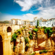 Ronda, Spain. Panoramic view of the old city of Ronda at sunset  — Stock Photo