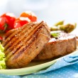 Grilled Beef Steak Meat over White — Stock Photo #29984929