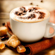 Stock Photo: Cappuccino. Cup of Cappuccino Coffee
