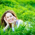 Young Woman Outdoors. Enjoy Nature — Stock Photo #29985221