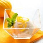 Ice Cream. Homemade Lemon Icecream Dessert — Stock Photo
