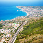 Aerial Panoramic View of Costa del Sol, Benalmadena, Spain — Stock Photo