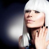 Fashion Vogue Style Model Portrait — Stock Photo