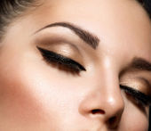 Oog make-up. mooie ogen retro stijl make-up — Stockfoto