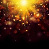 ゴールドのお祭りのクリスマス背景。黄金の抽象的なボケ味 — ストック写真