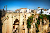 Ronda, Spain. Panoramic view of the old city of Ronda. Spain — Stock Photo