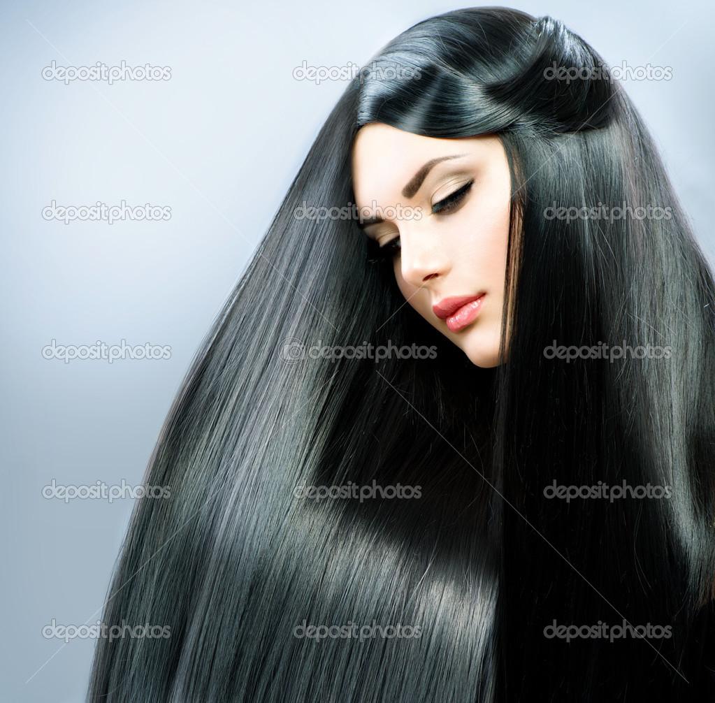 фото красивых девушек брюнеток с длинными волосами смотреть