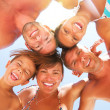 Happy Laughing Big Family Having Fun at the Beach — Stock Photo