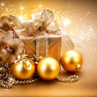 Christmas and New Year Gift and Decorations — Stock Photo #35709711