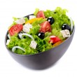 Greek Salad with Feta Cheese, Tomatoes and Olives — Foto de Stock   #35709775