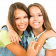 Teenager Friends. Friendship. Happy and Laughing Teenage Girls  — 图库照片