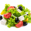 Greek Salad with Feta Cheese, Tomatoes and Olives — Stockfoto