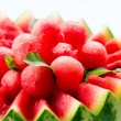 Watermelon. Fruit Salad. Fresh and Ripe Watermelon Balls  — Stock Photo