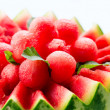 Watermelon. Fruit Salad. Fresh and Ripe Watermelon Balls — Stock Photo #35710885