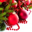 Christmas and New Year Baubles and Decorations — Foto de Stock