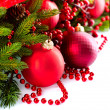 Christmas and New Year Baubles and Decorations — Stockfoto