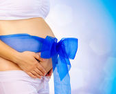 Pregnant Woman Belly. Pregnancy Concept — Stock Photo
