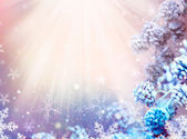 Winter Holiday Christmas and New Year Snow Background — Stock Photo