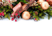 Christmas. New Year Decorations Isolated on White Background — Stock Photo