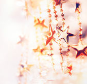 Christmas Holiday Abstract Background with Stars — Stock Photo