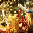 Christmas And New Year Holiday Table Setting. Celebration — Foto Stock #36962685