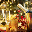 Christmas And New Year Holiday Table Setting. Celebration — Foto de Stock