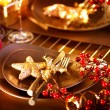 Christmas And New Year Holiday Table Setting. Celebration — Stock Photo #36962717