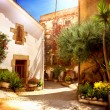 Spain, Catalunya, Barcelona. Street of Old Mediterranean Town — Stock Photo