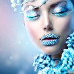 Winter Beauty Woman. Christmas Girl Makeup — Stock Photo #36962737