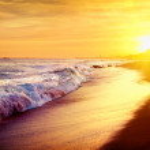 Beautiful Sea Sunset Beach. Mediterranean Sea. Spain — Stock Photo