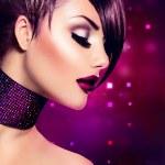 Holiday Woman Make up. Fashion Beauty Fashion Girl — Stock Photo