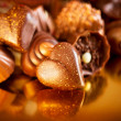 Valentine Chocolates. Assorted Chocolate Candies — Stock Photo