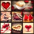 Stock Photo: Valentine Collage. Valentines Day Hearts art design