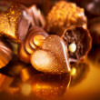 Valentine Chocolates. Assorted Chocolate Candies — Stock Photo #40235413