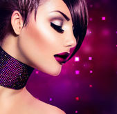 Holiday Woman Make up. Fashion Beauty Fashion Girl — Stock Photo