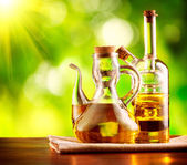 Olive Oil on the Table — Stock Photo