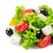 Mediterranean Salad. Greek Salad isolated on a White Background — Stock Photo #44267361