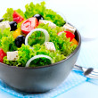 Mediterranean Salad. Greek Salad isolated on a White Background — Stock Photo #44267895