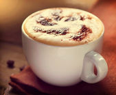 Cappuccino. Cup of Latte Coffee — Stock Photo