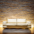 Leather beige sofa — Stock Photo #48638713