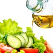 Vegetable salad with olive oil — Stock Photo #48639209